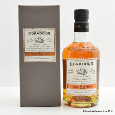 Edradour 1983 21 Year Old Port Finish