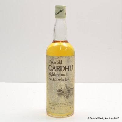 Cardhu 12 Year Old 75cl