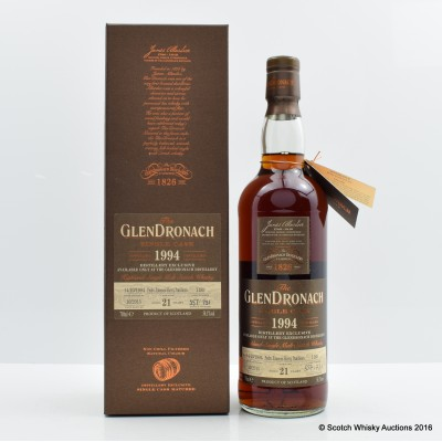GlenDronach 1994 21 Year Old Single Cask #1189 Distillery Exclusive