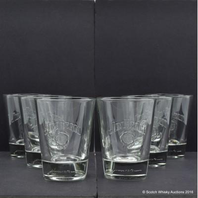 Jim Beam Glasses x 6