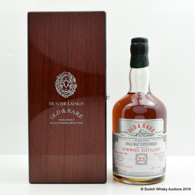 Bowmore 1990 23 Year Old Hunter Laing's Old & Rare