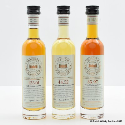 Assorted SMWS 3 x 10cl Including SMWS 35.97 Glen Moray 10 Year Old 10cl