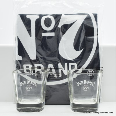 Jack Daniel's T-Shirt & Glasses x 2