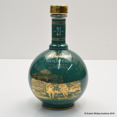 Highland Mountain 21 Year Old Ceramic Decanter