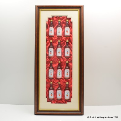 Flower Of Scotland Manchester United Champions Of Europe 1968 Minis 12 x 5cl In Presentation Frame