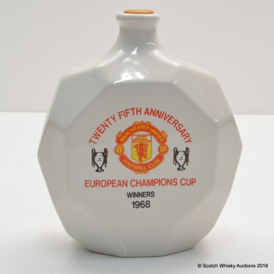 Manchester United 25th Anniversary European Champions Cup Winners 1968 Decanter