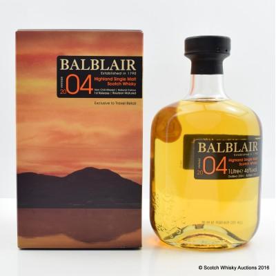 Balblair 2004 Bourbon Matured First Release 1L