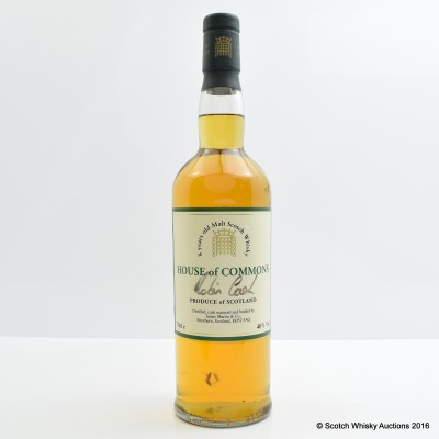House Of Commons 8 Year Old Vatted Malt Signed