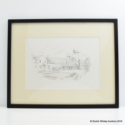 Glenlochy Distillery Drawing By Charlie Roy
