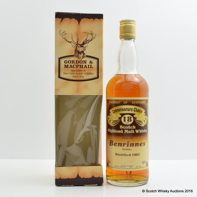 Benrinnes 1963 18 Year Old Connoisseurs Choice 75cl