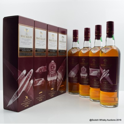 Macallan whisky Maker's Edition Nick Veasey X-Ray Classic Travel Range 4 x 70cl