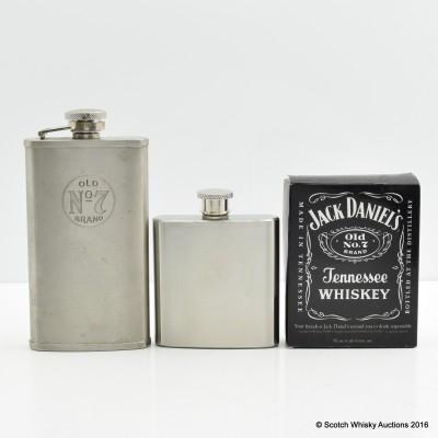 Jack Daniel's Hip Flask x 2
