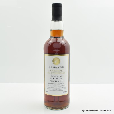 Aultmore 1986 30 Year Old A Rare Find