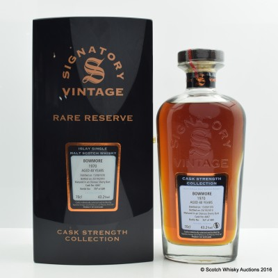 Bowmore 1970 40 Year Old Signatory