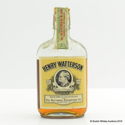Henry Watterson 1914 Kentucky Bourbon Half Pint