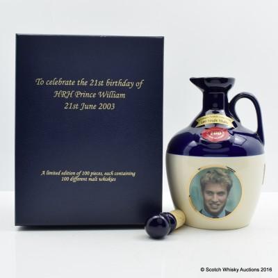 RUTHERFORD'S CERAMICS Prince William's 21st Birthday