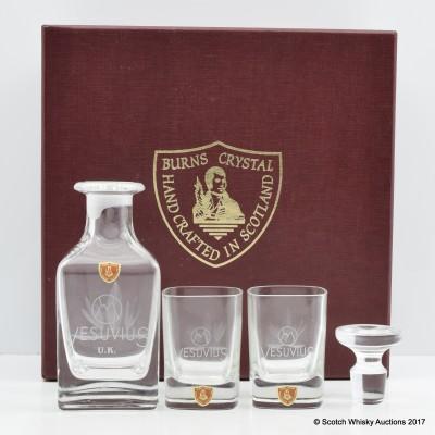 Burns Crystal Miniature Decanter Set