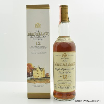 Macallan 12 Year Old Old Style Giovinetti & Figli Import