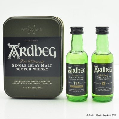 Ardbeg 10 Year Old & Ardbeg 17 Year Old Minis 2 x 5cl