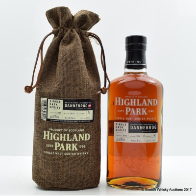 Highland Park 2003 13 Year Old Single Cask for 808th Anniversary of The Dannebrog