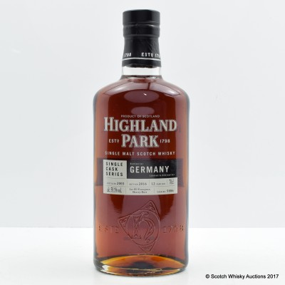Highland Park 2003 12 Year Old Single Cask for Germany