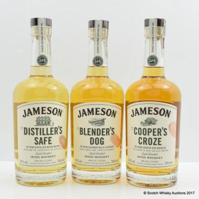 Jameson Whiskey Makers Series - Distiller's Safe, Blender's Dog, Cooper's Croze 3x70cl