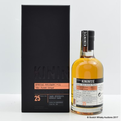 Kininvie 25 Year Old Special Release #01 'The first Drops' 35cl