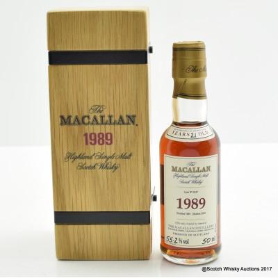 Macallan 1989 21 Year Old Mini 5cl