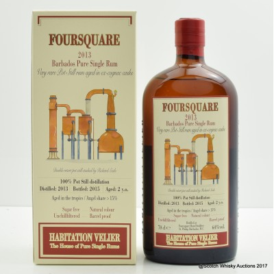 Foursquare 2013 2 Year Old Barbados Pure Single Rum