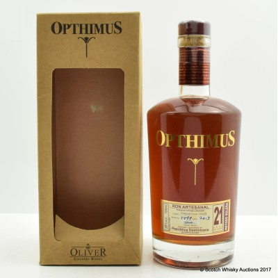 Opthimus 21 Year Old Rum