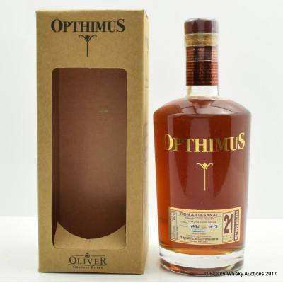 Opthimus 21 Year Old Rum