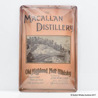 Macallan Embossed Metal Plaque