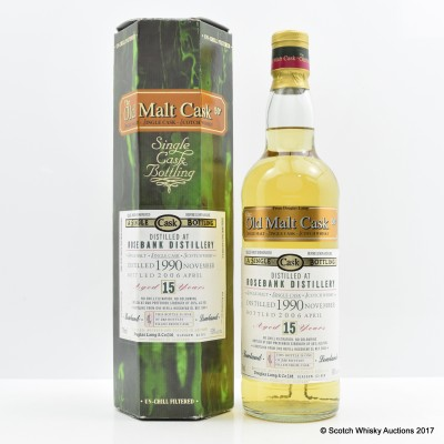 Rosebank 1990 15 Year Old Old Malt Cask