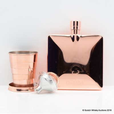 Glenfiddich Copper Hip Flask & Collapsible Cup