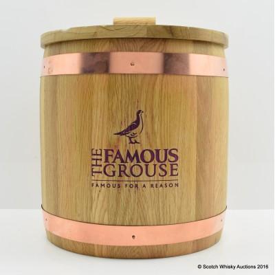 Famous Grouse Oak Barrel Ice Bucket