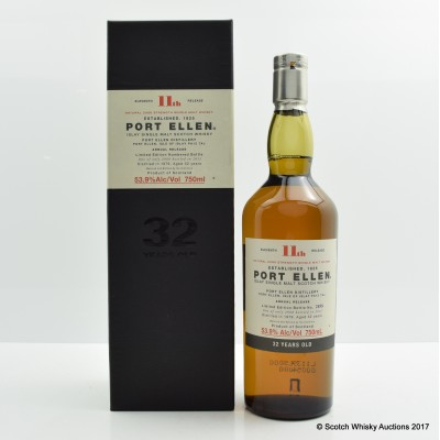 Port Ellen 11th Annual Release 1979 32 Year Old 75cl