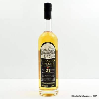 Canadian Rockies 21 Year Old Batch #1 75cl
