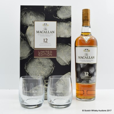 Macallan 12 Year Old Limited Edition Taiwan Exclusive with 2 Glasses