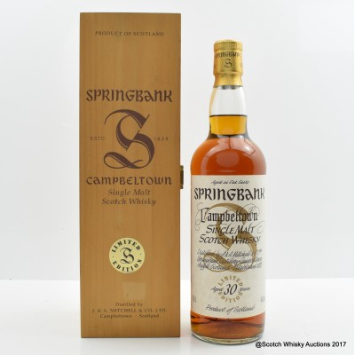 Springbank 30 Year Old Millennium Collection