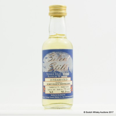 Port Ellen 1975 23 Year Old Signatory Silent Stills Mini 5cl