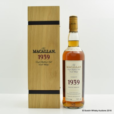 Macallan Fine & Rare 1939 40 Year Old