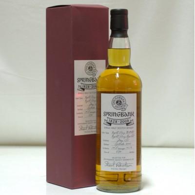 Springbank 180th Anniversary Bottling 1828 - 2008