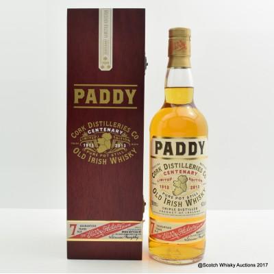 Paddy 7 Year Old Irish Whisky Centenary Limited Edition