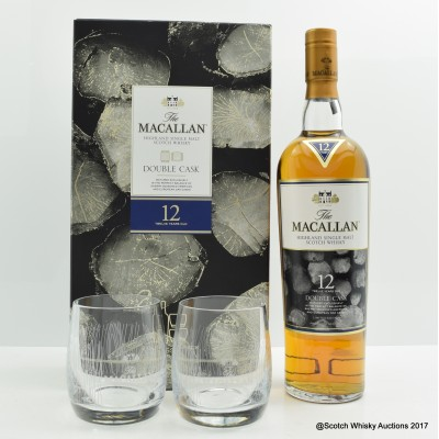Macallan 12 Year Old Double Cask & 2 x Glasses Gift Set Limited Edition