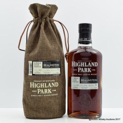 Highland Park 2003 12 Year Old Single Cask Braunstein