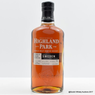 Highland Park 2002 14 Year Old Single Cask Series Swedish Bottling