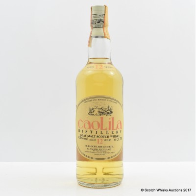 Caol Ila 12 Year Old Zenith Import 75cl