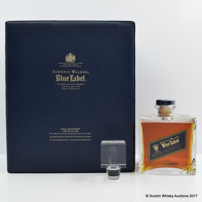 Johnnie Walker Blue Label 200th Anniversary Decanter in Leather Case
