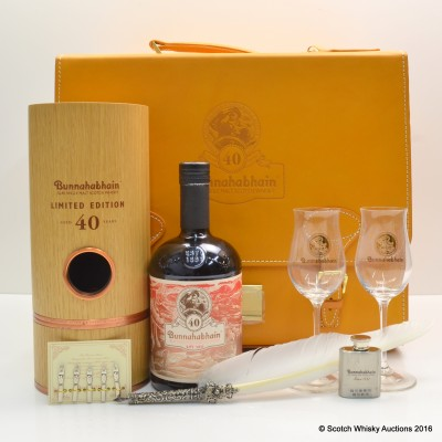 Bunnahabhain 40 Year Old in Writing Case