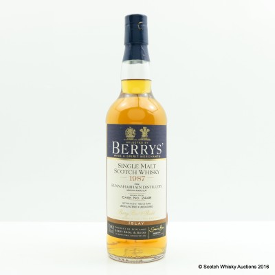 Bunnahabhain 1987 25 Year Old Berry Bros & Rudd